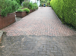 Block paving part cleaned